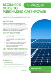 Beginner's Guide to Purchasing GreenPower