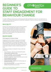 Beginner's Guide to Staff Engagement for Behavior Change