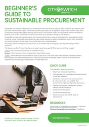 Beginner's Guide to Sustainable Procurement