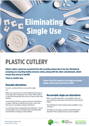 Eliminate sinlge use plastic cultery