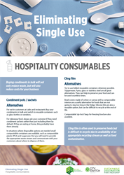 Eliminate single use hospitality consumables