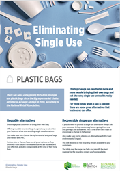Eliminate single use plastic bags