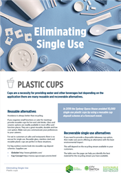 Eliminate single use plastic cups