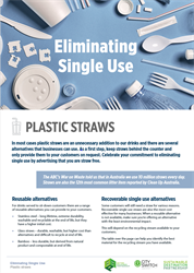 Eliminate single use plastic straws
