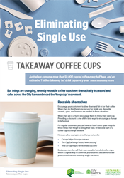Eliminate single use takeaway coffee cups